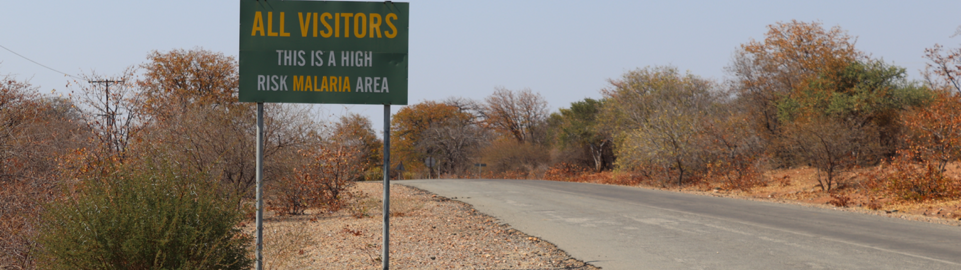 One of the few malaria awareness signs in the Vhembe district, in South Africa.