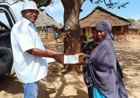 The project team distributed more than 5000 masks to the Lamu population.