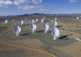The South African MeerKAT radio telescope.